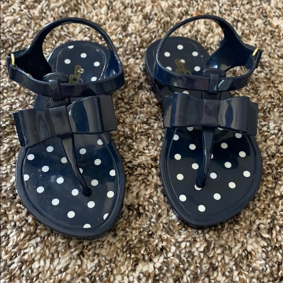 Girls Navy Blue Jelly Sandals Size